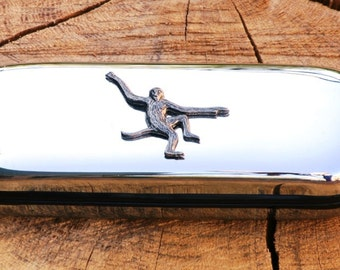 Monkey Metal Pen Case & Ball Point Set Personalised Engraved Gift