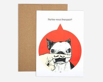 Oui Oui Birthday Greeting Card