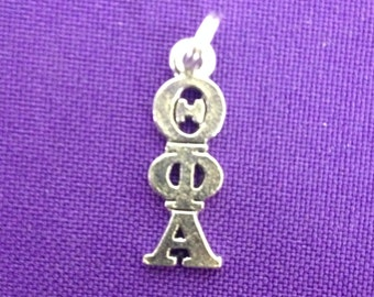 Theta Phi Alpha Greek Sorority Lavaliere in Sterling Plate, Officially Licensed