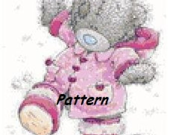 Teddy bear #1. Cross Stitch Pattern. PDF Files.