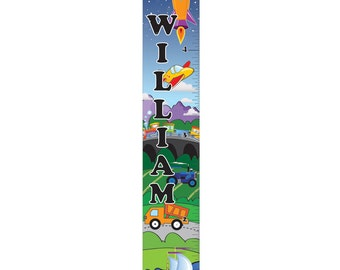Personalized Cars and Trucks Growth Chart