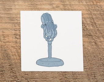 Microphone tattoo sticker by Victoria Dedkova
