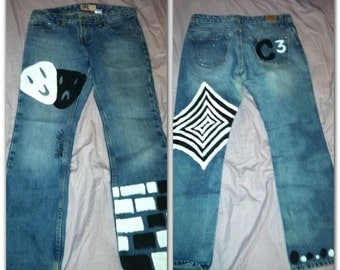Hand Painted Drama Jeans
