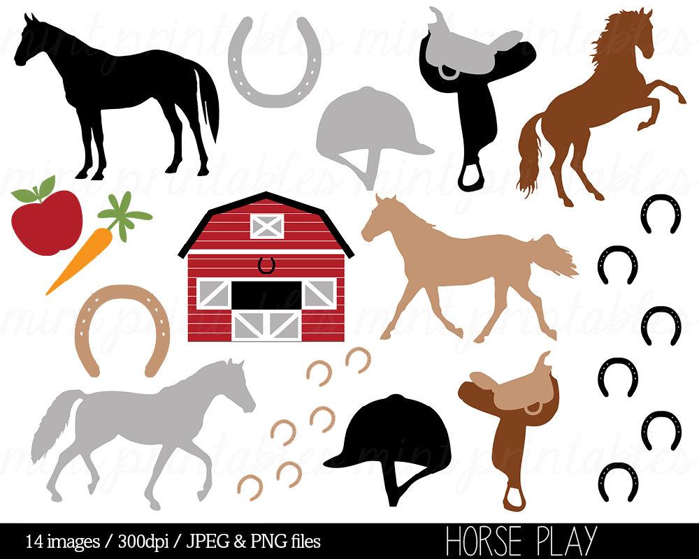 Horse Clipart Horses Clip Art Stable Horse riding Saddle