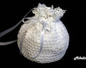 Crochet Bridal Purse,Handmade Bridal Purse,White