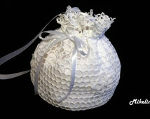 Crochet Bridal Purse,Handmade Bridal Purse,White