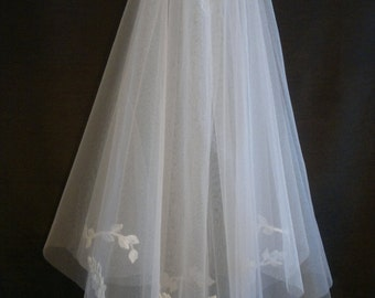 White Wedding Veil, Two Layers