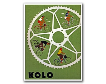 Bicycling Art Decor Cycling Poster Road Bike Vintage Print (H32)