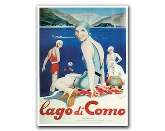 Retro Travel Art Italy Lake Como Sports Poster Home Decor Vintage Print (H103)
