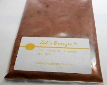 100 gr Zab's Sol Bronze™ metal clay powder, golden bronze