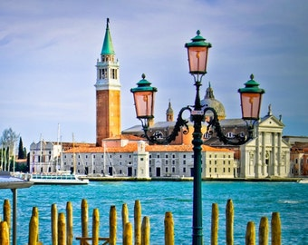Venice photography, Campanile, Italy photos, water, lantern, summer, vacation, travel photography, wall art, beautiful home decor