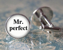 Mr. Perfect Cufflinks, Wedding cufflinks, groom, cuff links, mens cufflinks, wedding men cufflinks, wedding gift,cuff links,vintage