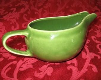 Vintage Pottery Aladdin-Style Gravy Boat, Sauce Boat or Pitcher