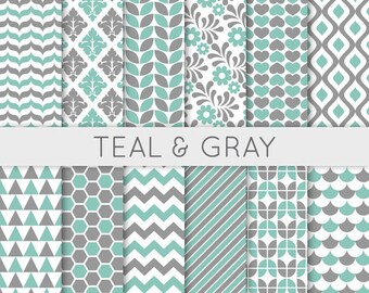 Popular Items For Grey And Teal On Etsy