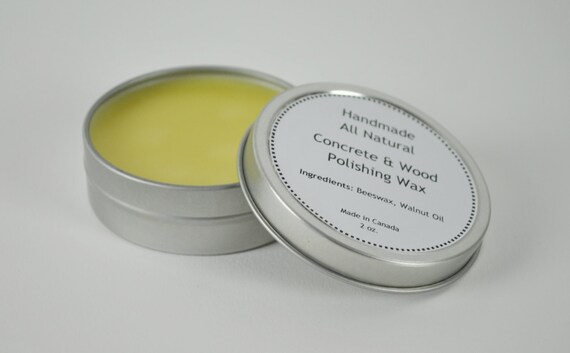 Concrete Paste Wax : Organic walnut oil based wax butcher block cutting