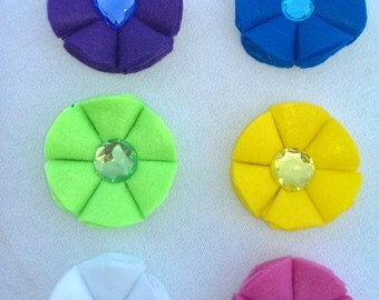 Felt flower hair bow