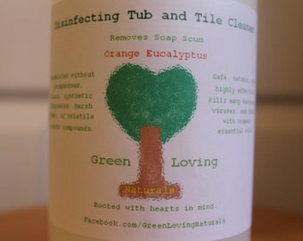Organic Disinfecting Tub & Tile Cleaner, Orange eucalyptus.