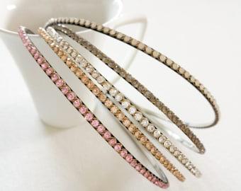 Skinny Crystal Headband / Wedding Headband