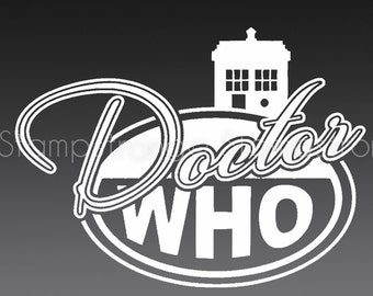 5 Inch Doctor Who Oval Tardis decal sticker vinyl Die Cut EURO