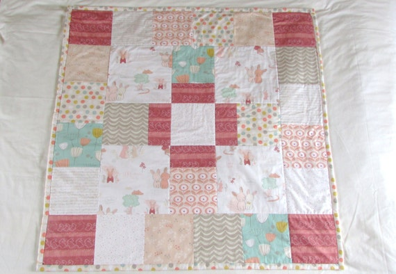 Baby quilt floor mat kit littlest by art by thefabricfoxuk for Floor quilt for babies