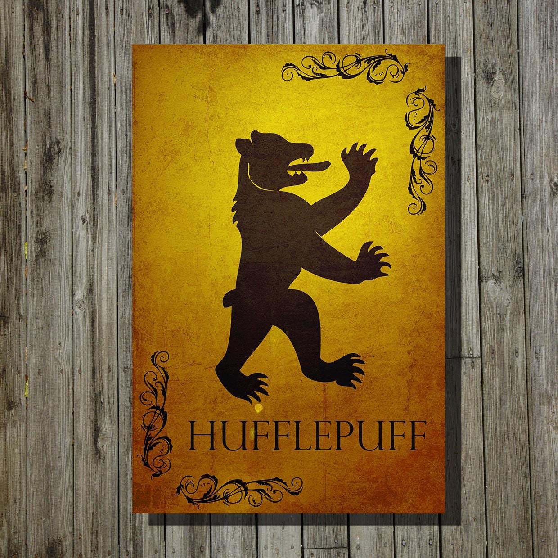 Harry Potter Hogwarts House Banner Hufflepuff Print Movie