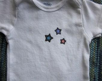 Stars; 6-9 month Onesie Original Design