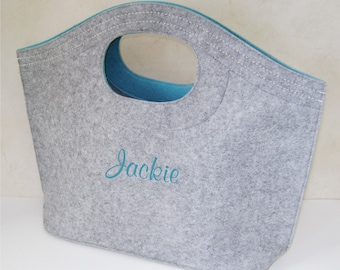 Personalized Felt Hobo Tote Bag