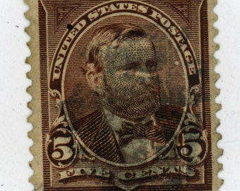 120 year old, 1, U.S. Stamps, Date, 1894, Scott # 255, Grant,  Used,   Good to Very Good Condition.   558a