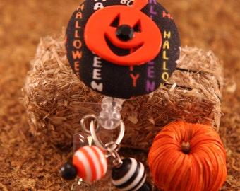 Halloween Pumpkin ID Badge Holder