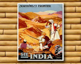 India Art Travel Poster Wall Print Decor (AJT13)