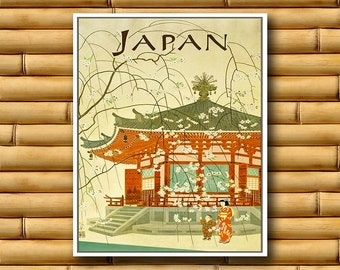 Japanese Art Travel Poster Japan Wall Print Decor (AJT16)