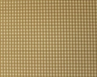 Light Brown Gingham - Fabric by the Yard 043