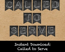 Called to Serve Missionary Banner - Digital