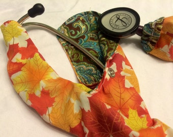 REVERSIBLE- Autumn colors, changing leaves and fall pallet paisley