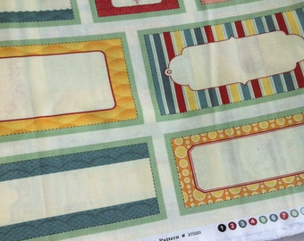 """Panel 24 by 44 inch""""- 36 Labels- Salt Air Summer Elements by Cosmo Cricket for MODA - Pattern #37020"""
