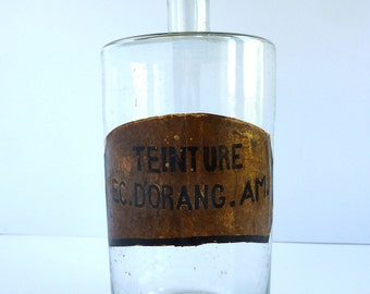 French vintage apothecary bottle, french pharmacy bottle