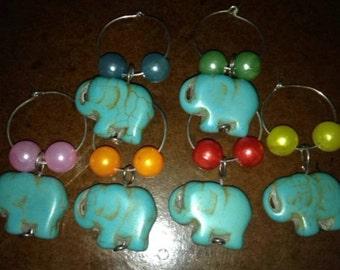 Elephant Wine Glass Charms