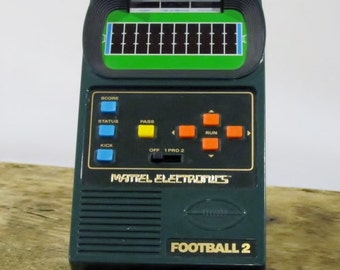 Vintage Handheld Football 2 Electronic Game By Mattel