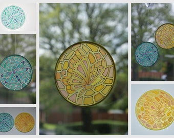 Silk Sun Catchers - Dragonfly or Butterfly