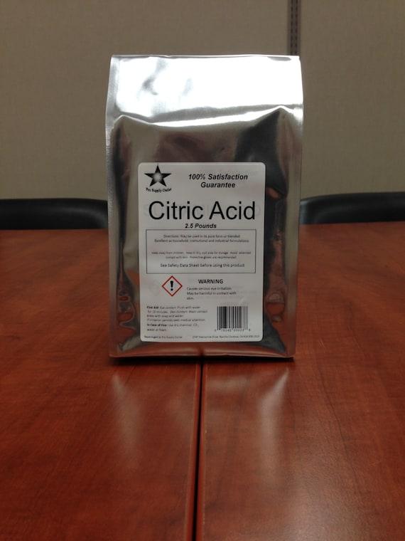 Citric Acid USP/Food Grade 2.5 Lb Pack by ProSupplyOutlet ...