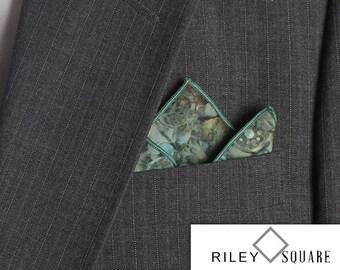 Batavian Batik Raindrops Pocket Square/Handkerchief