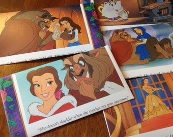 Beauty and the Beast Envelopes (set of 5)