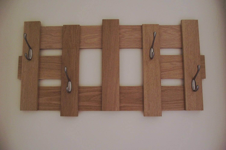 Handmade wall oak coat rackcustom order wooden