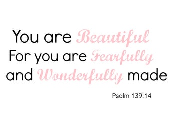 Praise you for i am fearfully and wonderfully made quot psalm 139 14