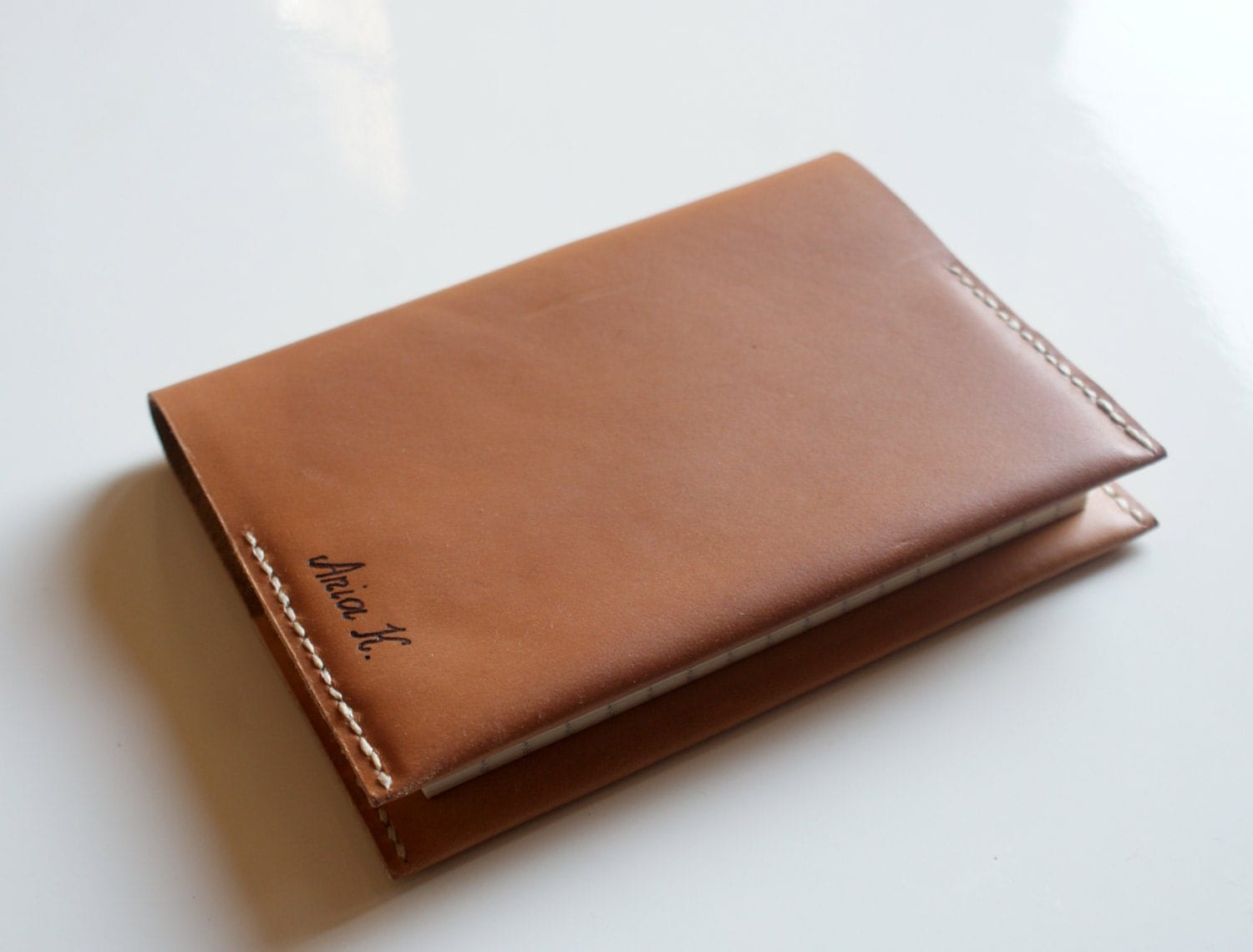 Leather Notebook With Letter On Cover