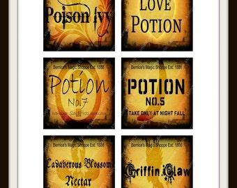Digital Halloween Labels. Digital Potion Labels. Instant Download