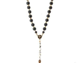 SEKKA rosary necklace with skull