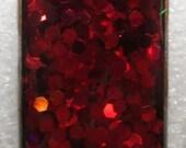 Deep Crimson Holographic Resin Pendant
