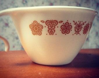 Vintage 1970s Corelle Gold Butterfly Hook Handle Tea Set