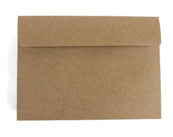 "10 A7 Kraft Envelopes | 5.25"" x 7.25"" Envelopes 